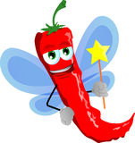Red hot chili pepper fairy Royalty Free Stock Photography