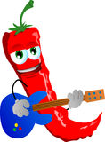 Red hot chili pepper guitar player Stock Photo