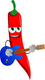 Red hot chili pepper guitar player Stock Image