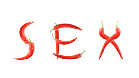 Red hot chili pepper isolated Royalty Free Stock Photo