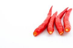 Red hot chili pepper isolated Stock Images