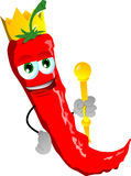 Red hot chili pepper king Stock Photos