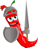 Red hot chili pepper knight Royalty Free Stock Photo