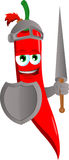 Red hot chili pepper knight Royalty Free Stock Photography