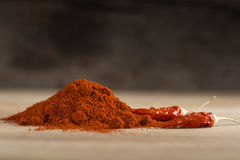 Red hot chili pepper and paprika powder Stock Image