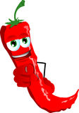 Red hot chili pepper pointing at viewer Stock Image
