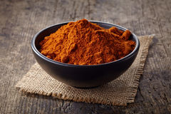 Red hot chili pepper powder Stock Images