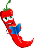 Red hot chili pepper reading Stock Images
