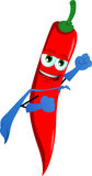 Red hot chili pepper superhero Royalty Free Stock Images