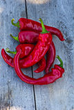 Red hot chili pepper. Red hot chili pepper on the table Stock Images