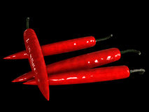 red hot chili pepperon Royalty Free Stock Images