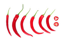 Red hot chili-peppers Stock Photo