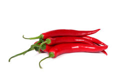 Red hot chili-peppers Stock Images