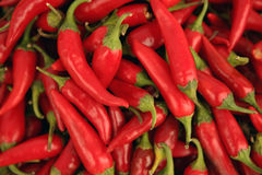 Red hot chili peppers. A closeup shot of red hot chili peppers Stock Images
