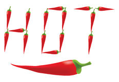 Red hot chili peppers Royalty Free Stock Image