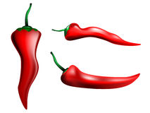 Red hot chili peppers. Vector illustrated Stock Photo