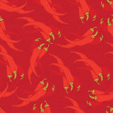 Red hot chili peppers background Royalty Free Stock Photography