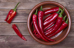Red Hot Chili Peppers in bowl Royalty Free Stock Photo