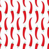 Red hot chili peppers seamless pattern. Royalty Free Stock Photo