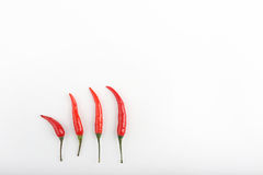 Red hot chili peppers on a table Royalty Free Stock Photo