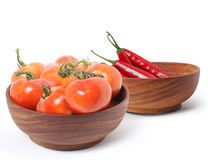 Red Hot Chili Peppers and tomatoes Royalty Free Stock Photo