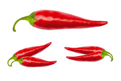 Free Red Hot Chili Peppers With Clipping Path Stock Photography - 74241772