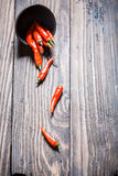 Red and hot chili peppers Royalty Free Stock Images