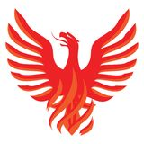 Red Phoenix design Stock Photography