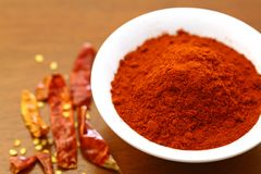 Red hot chili powder Stock Images