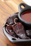 Red hot chili sauce Stock Image