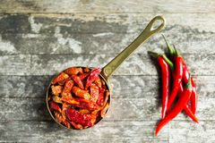 Red hot Chilli Chillies pepper Stock Images