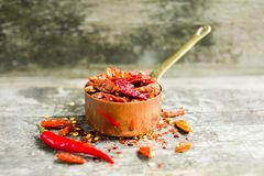 Red hot Chilli Chillies pepper Stock Image