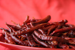 Red hot chilli peper pods red Stock Photo