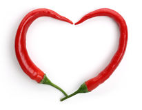 Red Hot chilli pepper frame Stock Photography