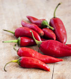 Red hot chilli peppers Royalty Free Stock Photography