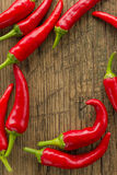Red hot chilli peppers frame Royalty Free Stock Photo