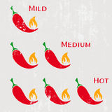 Red hot chilli peppers Royalty Free Stock Image