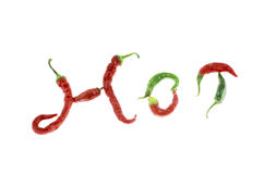 Red hot chilli peppers isolated on white Stock Image