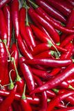 Red hot chilli peppers. In a market of London Stock Images