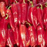 Red hot chilli peppers for sale Stock Photo
