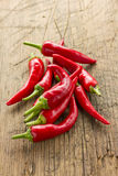 Red hot chilli peppers Stock Photo