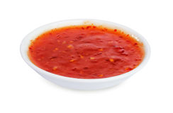 Red hot chilli sauce stock photos