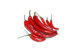 Red hot chillies isolated on white Stock Images