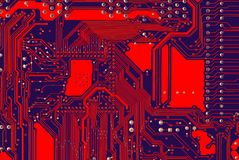 Red Hot Circuits Royalty Free Stock Photos