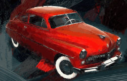 Red hot classic car Stock Image