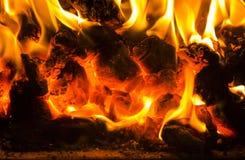 Red-hot coal Royalty Free Stock Photos
