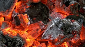 Red-hot coal to stock video footage