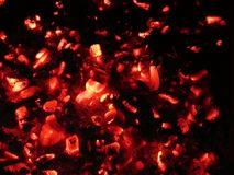 Red-hot coals Stock Photography