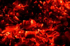 Red hot coals background Stock Image