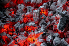 Red hot coals Royalty Free Stock Images